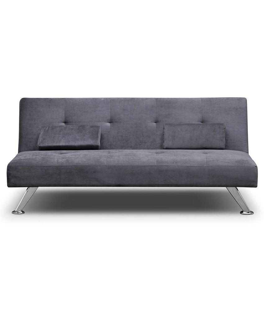 Fabhomedecor sunrise sofa cum bed grey best price in india for Sofa bed price in india