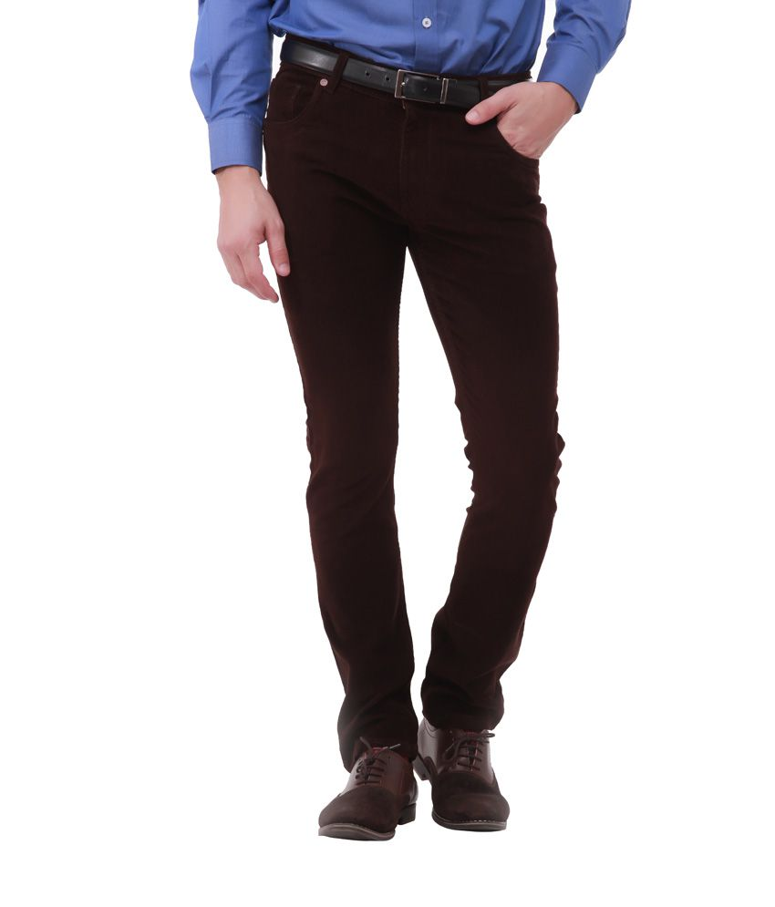 Jogur Classic Brown Casual Trouser