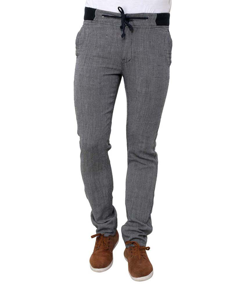 Wear Your Mind Gray Linen Chinos