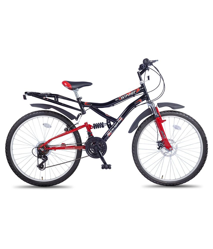 68d817c5c08 Hero Sprint 26T Winner 18 Speed Adult Cycle - Black Adult Bicycle/Man/Men/Women:  Buy Online at Best Price on Snapdeal