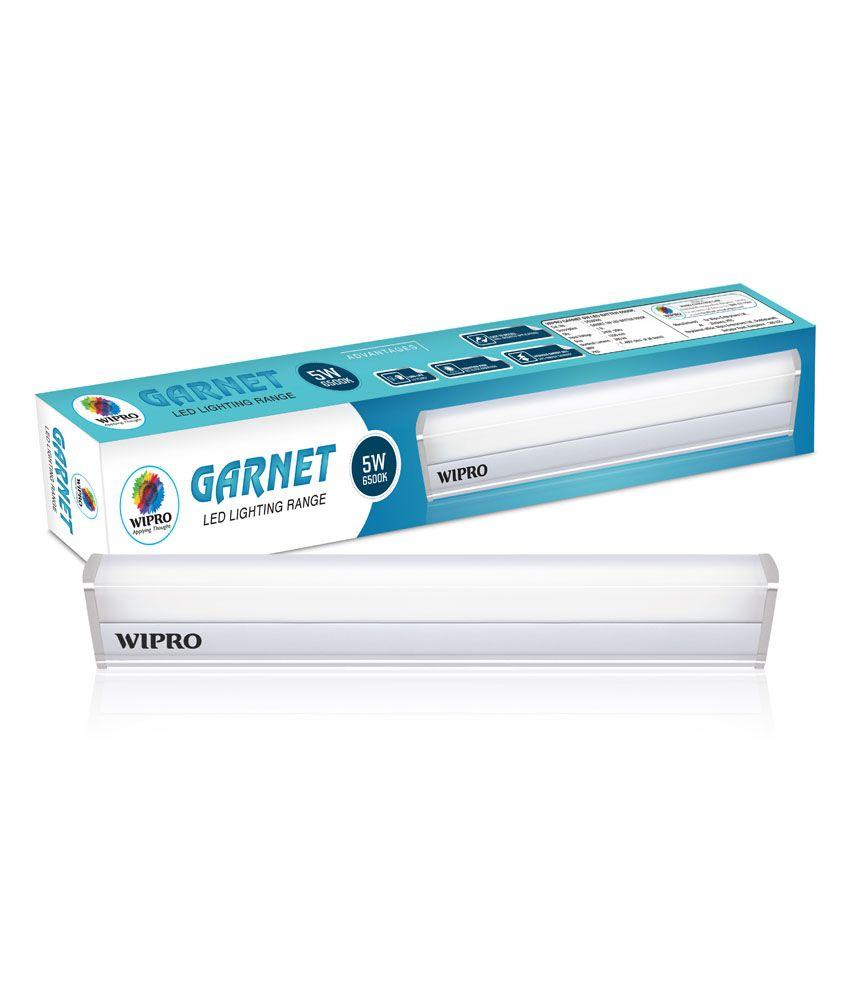 Wipro Garnet 5W 1 Ft  LED Tubelight Batten 2700K (Warm White)
