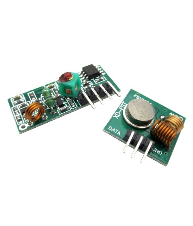 Soni Shop 433 Mhz Rf Transmitter + Receiver Module Link Kit For Arduino  Raspberry Pi 8051