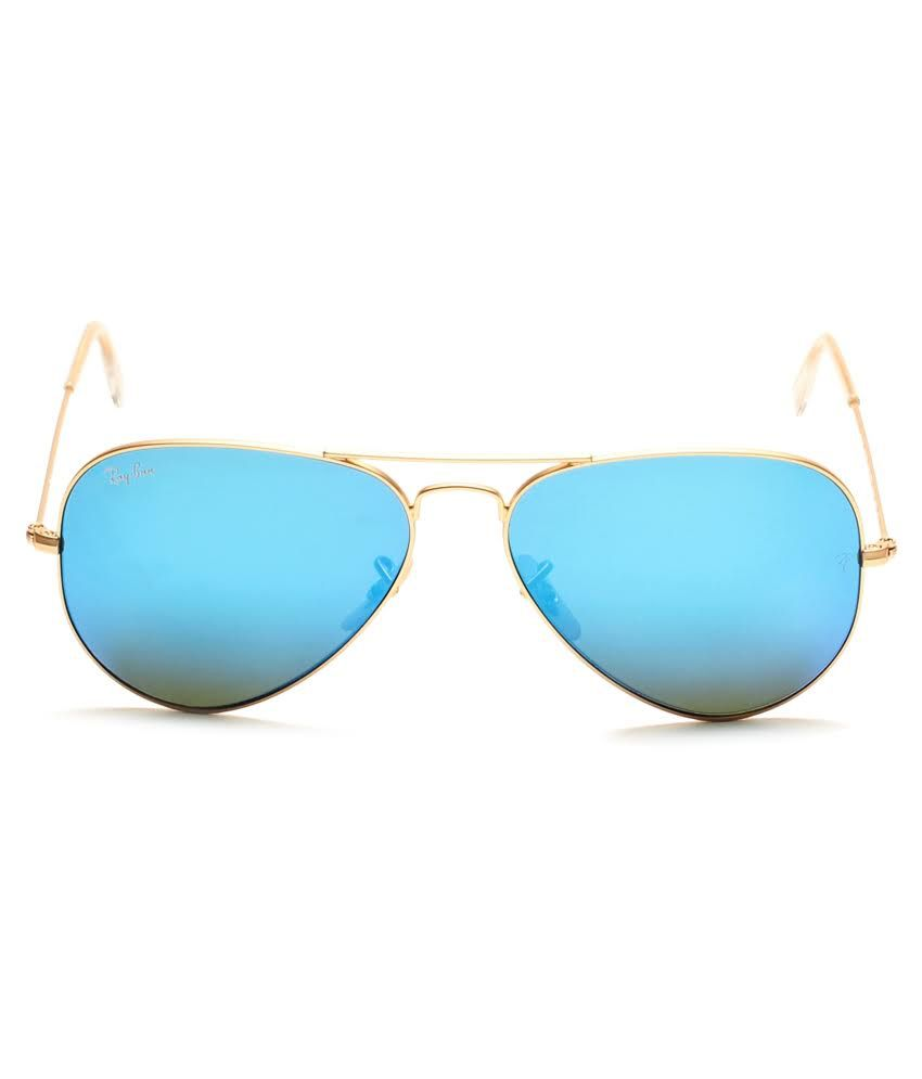 ray ban sunglasses blue aviator  Ray-Ban Blue Aviator Sunglasses (RB3025 112/17 58-14) - Buy Ray ...