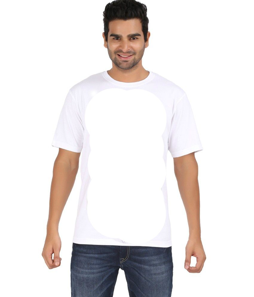 Anand Haresh Kumar Sathiya White Cotton Blend Round Neck T-shirt - Set Of 2
