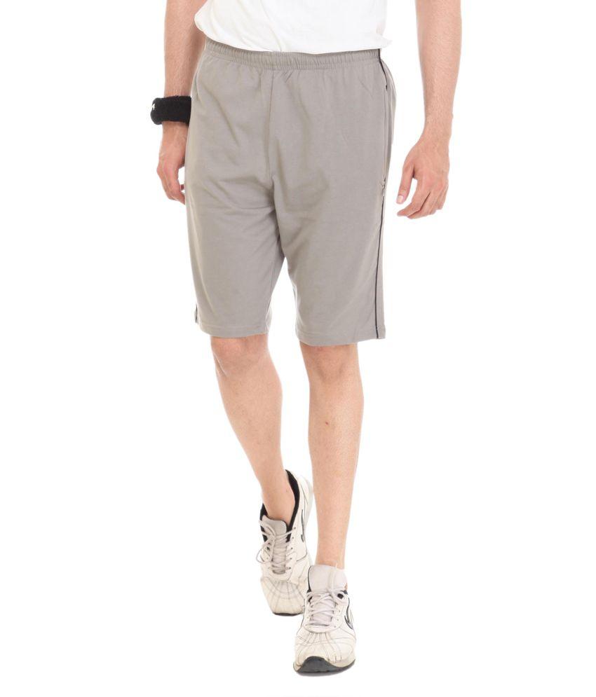 Colors & Blends Beige Cotton Blend Shorts