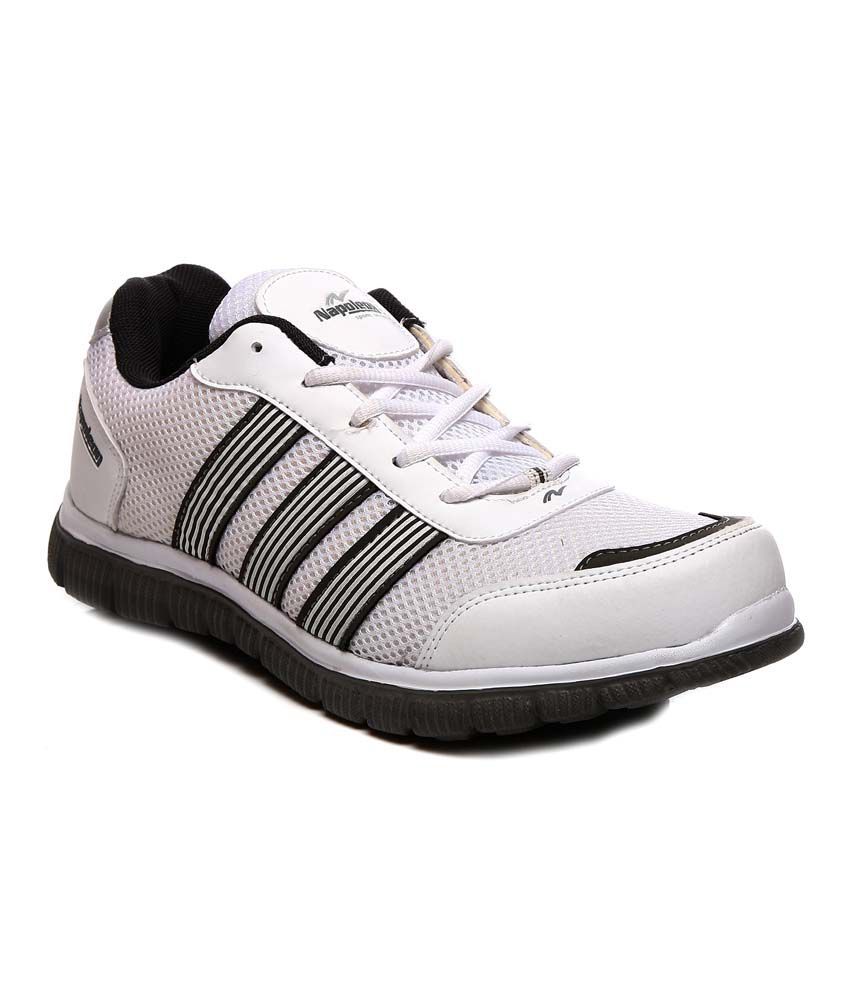 Napoleon White Synthetic Leather Sport Shoes