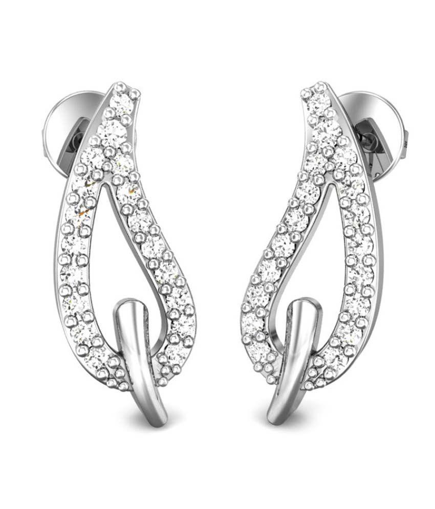 Candere Allison Diamond Earring White Gold 18K