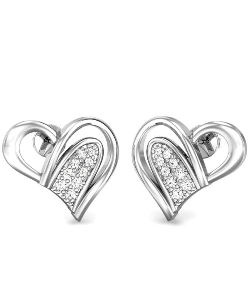 Candere Camilla Diamond Earring White Gold 18K