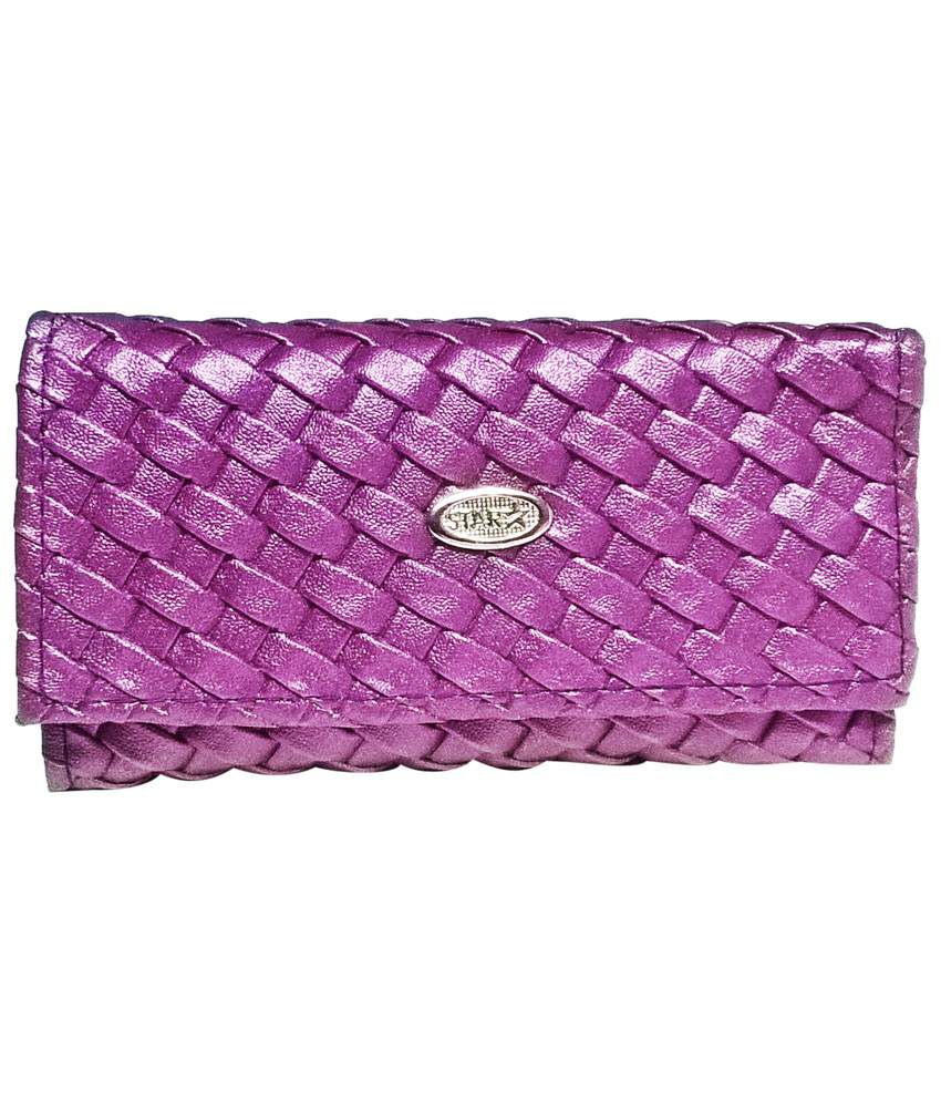 Ethnic Art Berry Purple Wallet