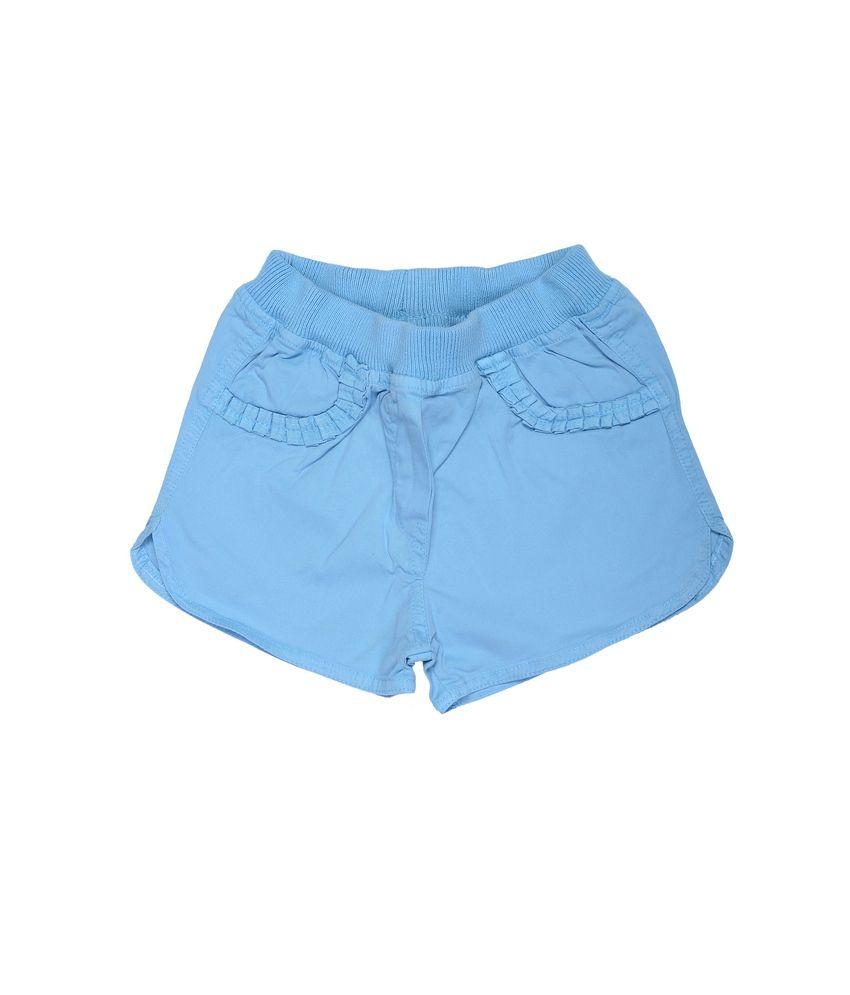 Catapult Girls Blue Cotton Shorts