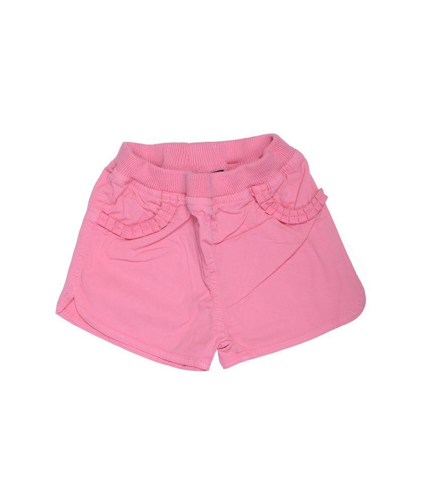 Catapult Girls Bubblegum Pink Cotton Shorts