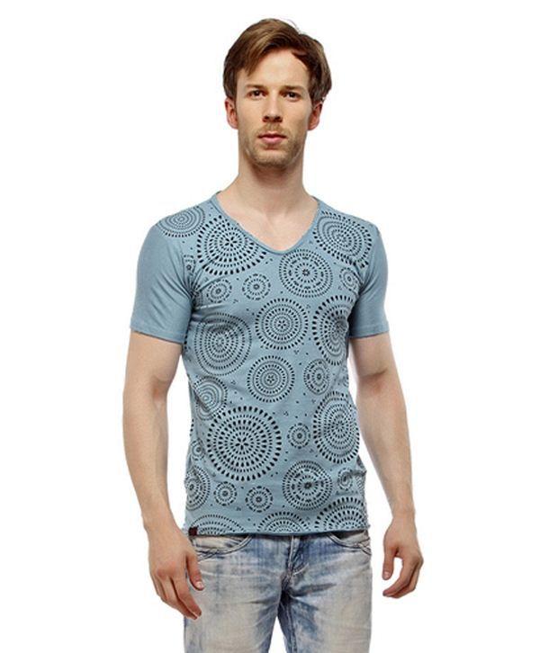 MY Blue Cotton T Shirt