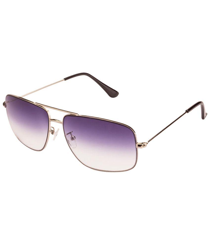 Mask Golden & Purple Gradient Unisex Rectangular Sunglasses