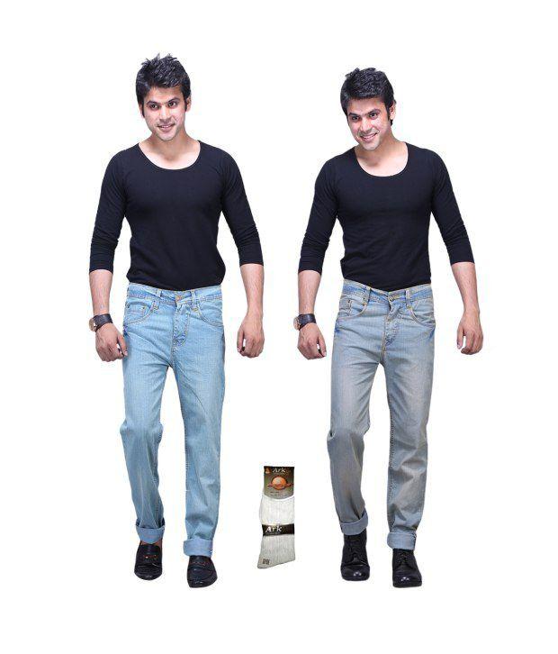 X-cross Multi Regular Jeans For Men - Pack Of 2