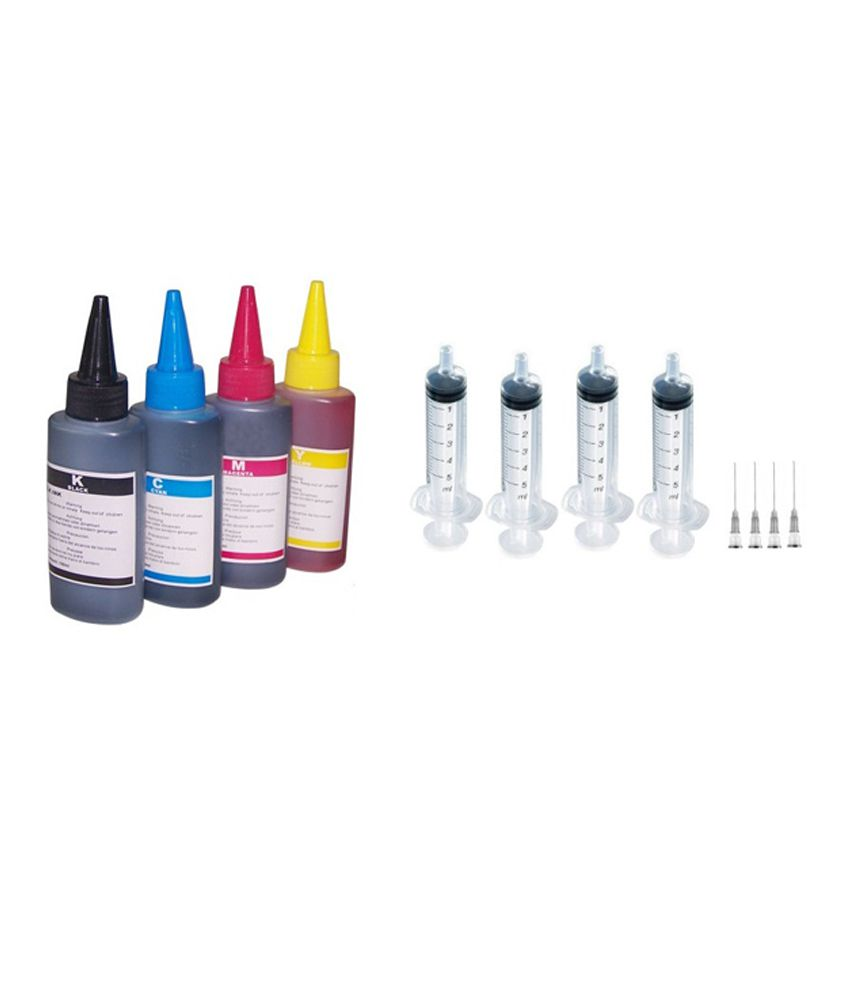 Fine Print Multicolor Ink Bottle With Refill Kit For Epson, HP, Canon And Brother
