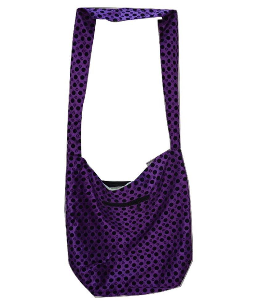 IDBC Purple Canvas Cloth Jhola