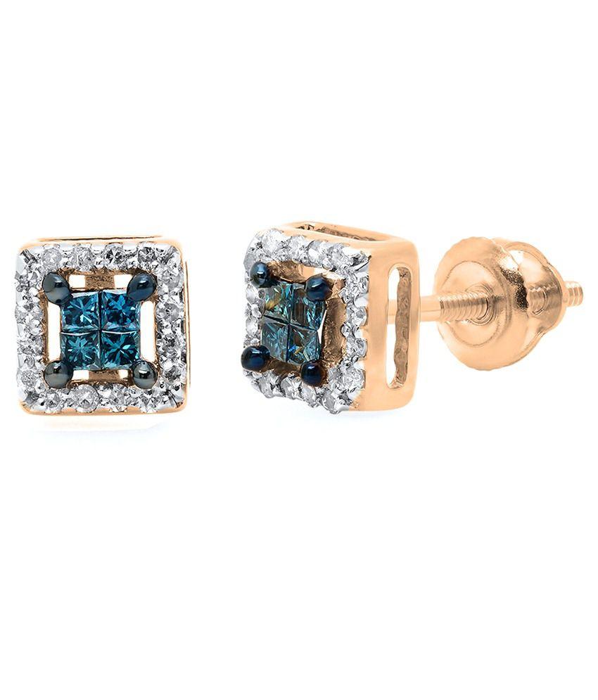 Kavya Jewels 10Kt Gold Stud Earrings