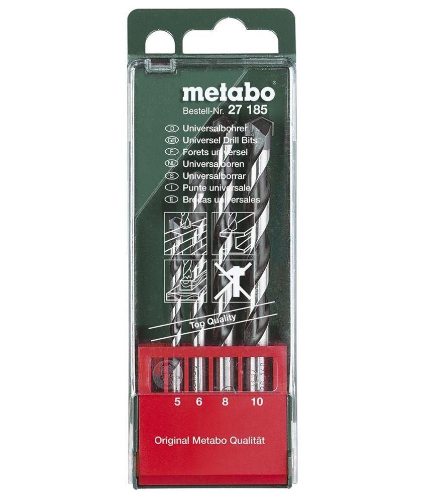 Metabo-4-Universal-Drill-Bits-Wood,metal,masonry