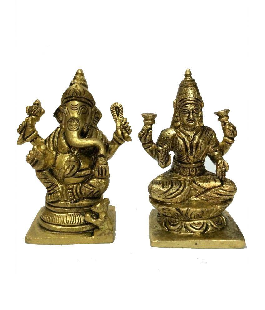 Trimurti Arts Glossy Laxmi Ganesh Idols