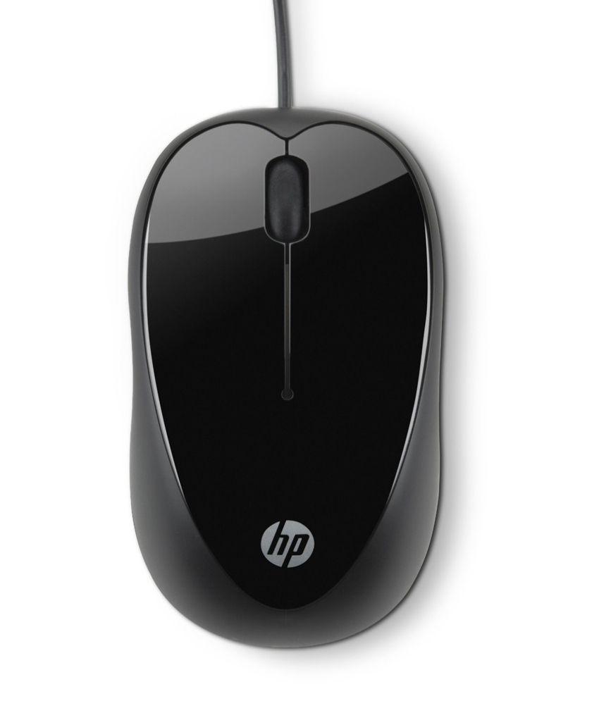 HP x1000 USB Mouse Black
