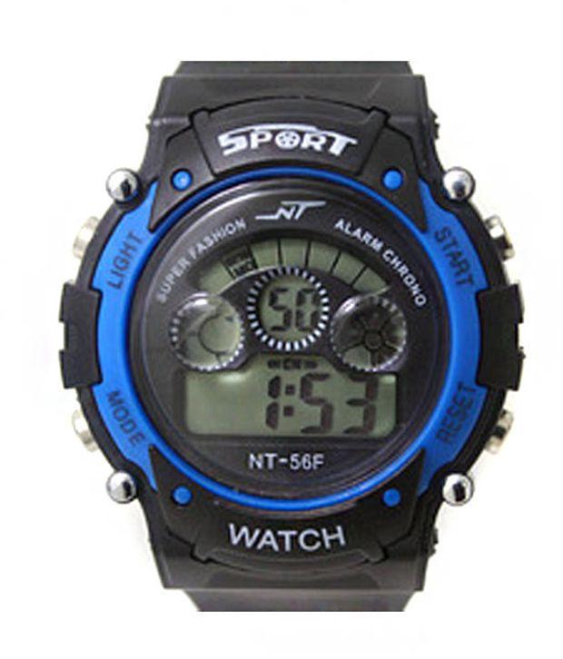 Hala Blue And Black Digital Sports Watch For Kids