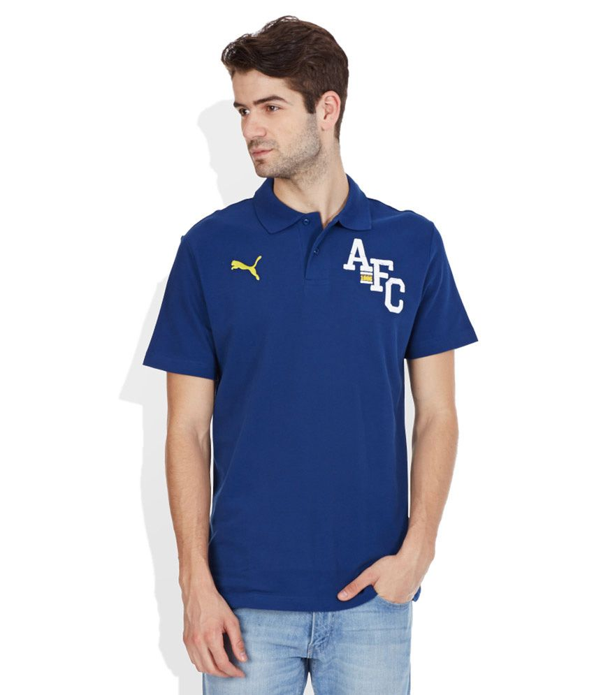 PUMA Blue Polo T-Shirt