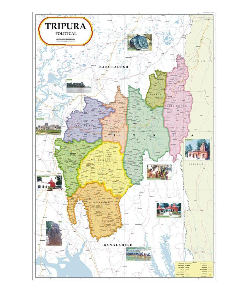 Vidya chitr prakashan tripura map buy online at best price in india vidya chitr prakashan tripura map gumiabroncs Gallery