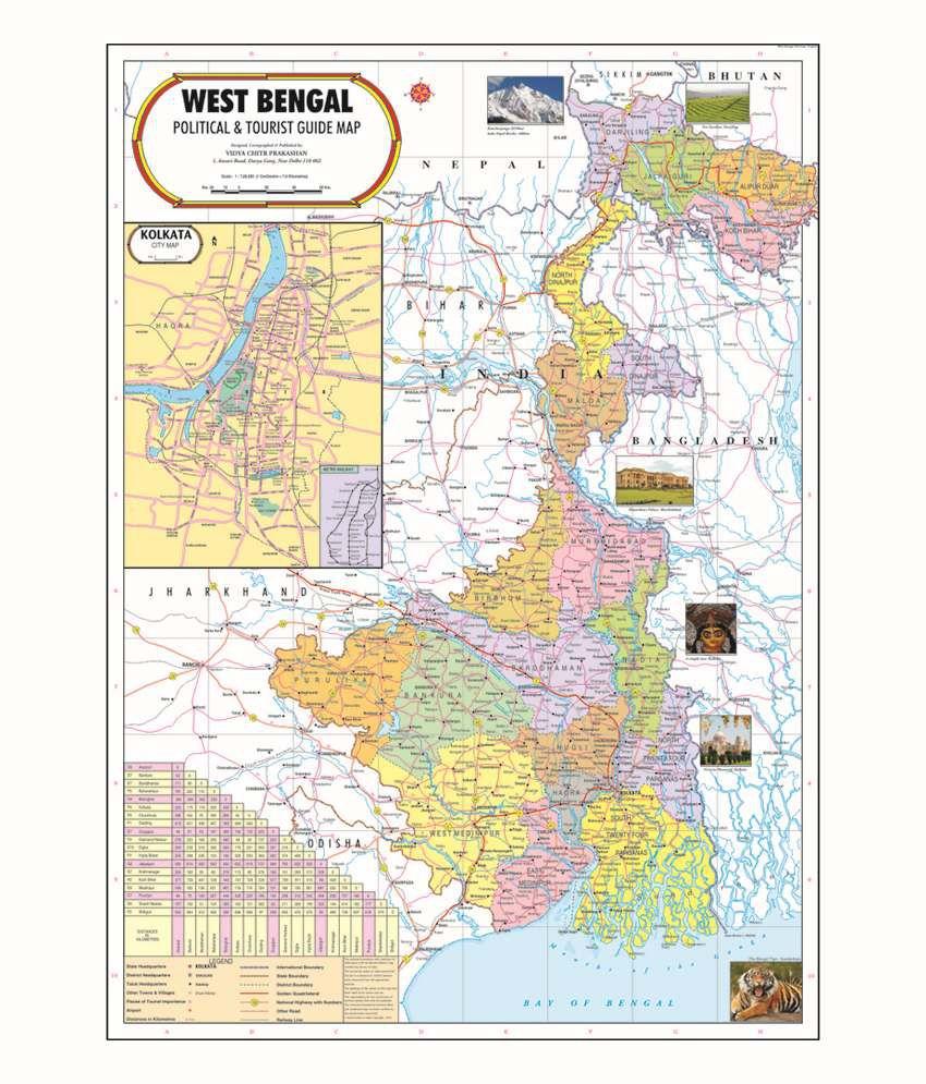 Vidya chitr prakashan west bengal map buy online at best price in vidya chitr prakashan west bengal map gumiabroncs Gallery
