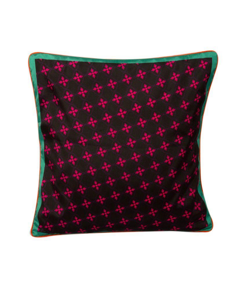 Design Guns Multi-Colour Jali Printed Cushion Covers