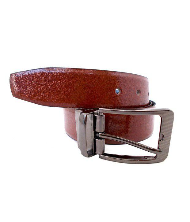 InleStreet Black Brown Leather Belt