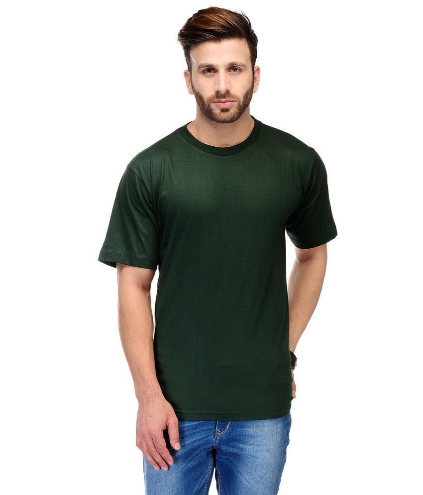 Ausy Green Cotton T-Shirt