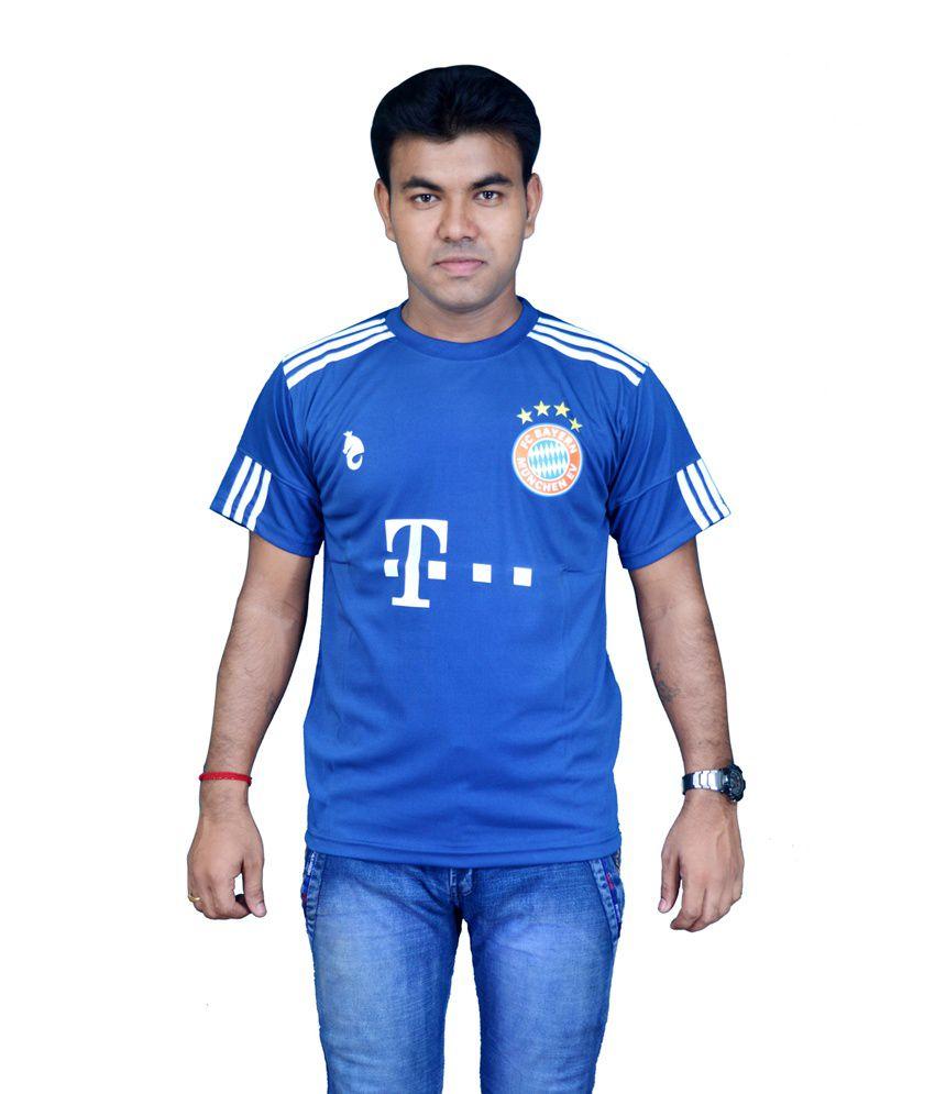 Bloomun Blue Polyester T Shirt