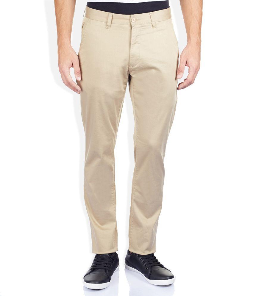 Izod Khaki Tapered Fit Trousers