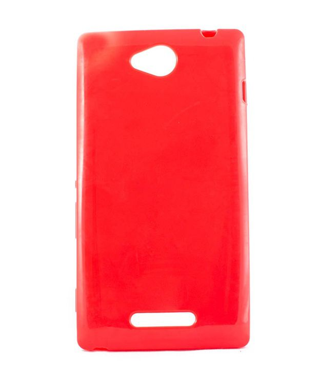 Video Tronix Generic U Case Silicon Soft Back Cover Case For Sony xperia C S39H   Red