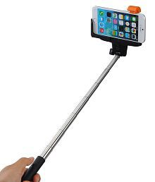 ClickAway Selfie Stick With Inbuilt Bluetooth For All Android And Iphones - Multicolour