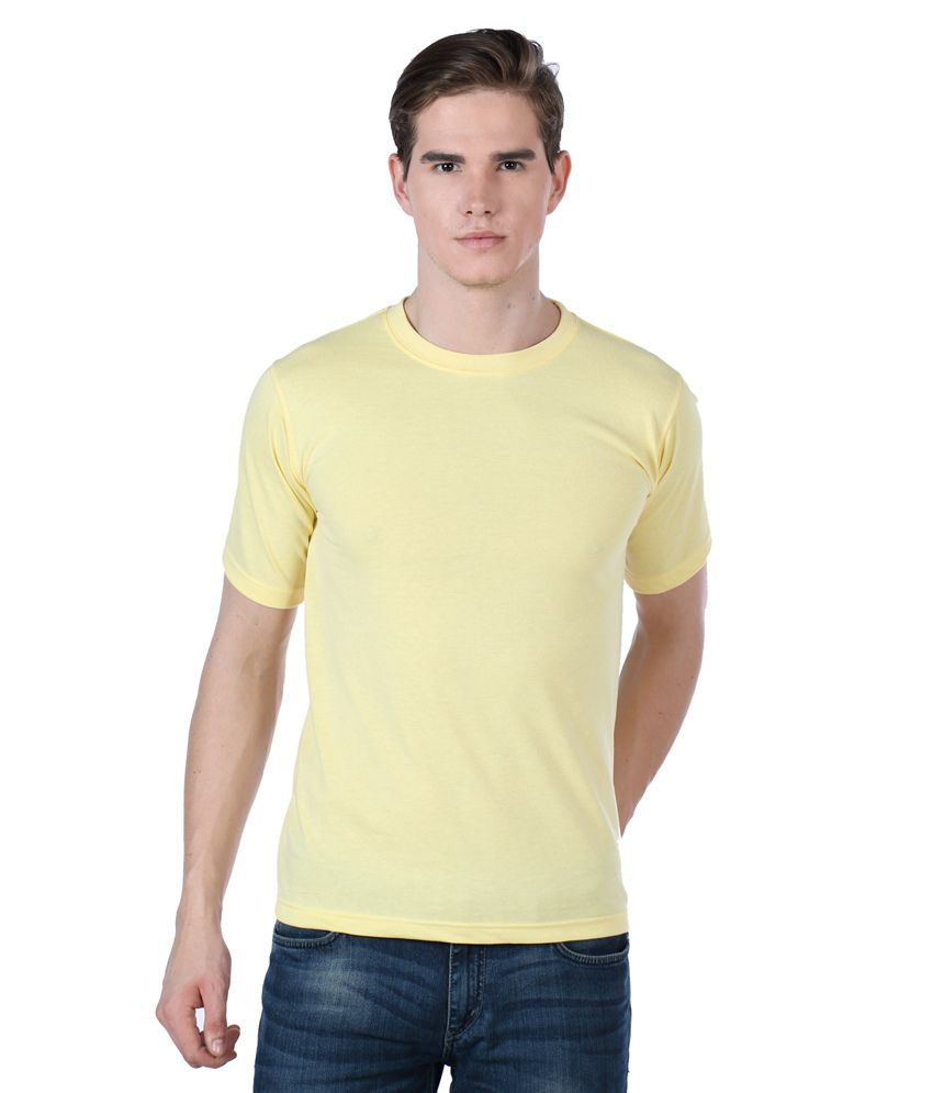 Billy Buddha Yellow Cotton Round Neck T Shirt