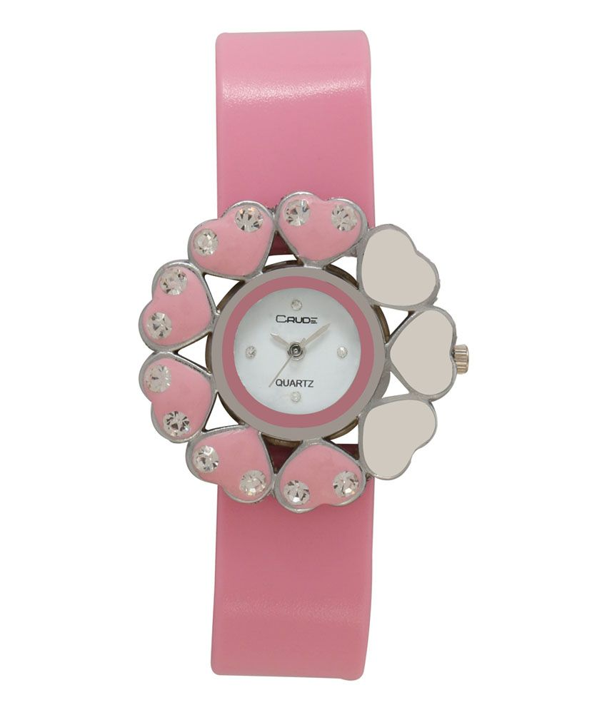 Crude Pink Analog Round Casual Watch