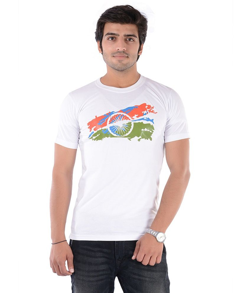 c56a6f169 Namo India White Cotton Round Neck T Shirt - Buy Namo India White Cotton  Round Neck T Shirt Online at Low Price - Snapdeal.com