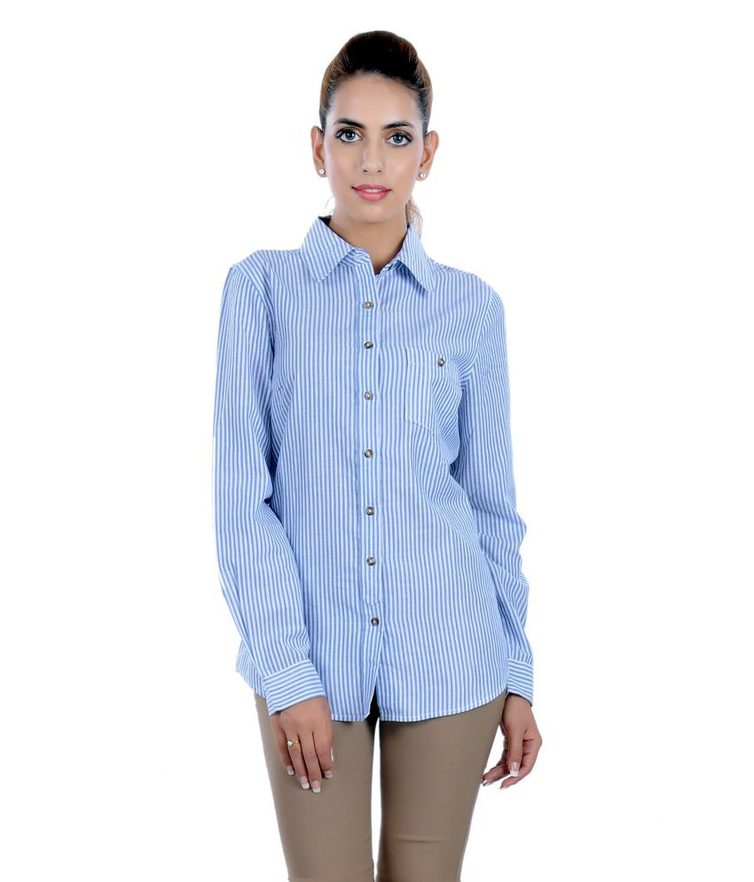 Buy Yalo Blue Cotton Shirts Online At Best Prices In India