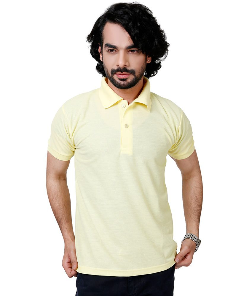 Elligator Yellow Blend Polos Sports Wear For Men