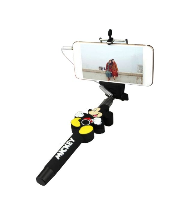 Jo jo Jo Jo Mickey Mouse Selfie Wireless Bluetooth Handheld Self Timer Monopod Mount Holder
