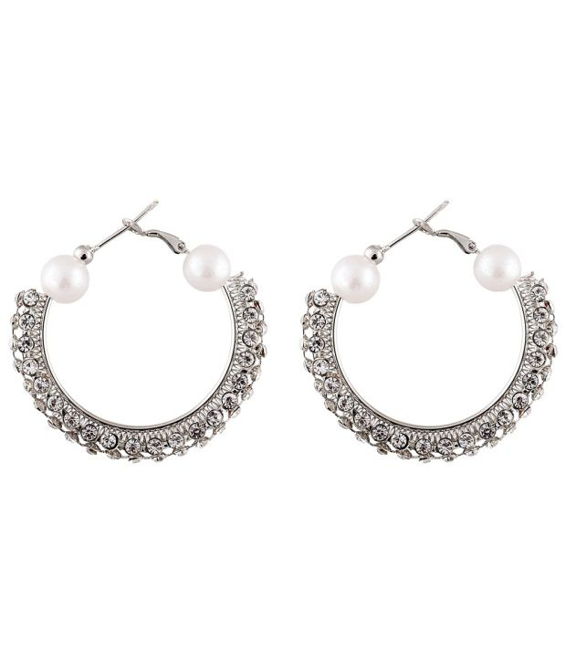 Lucky Jewelry Antique Silver Hoops Or Huggies Or Balis