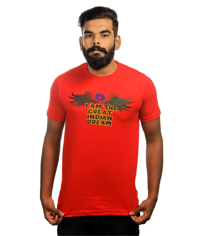 Paradigm Red Crew Neck Tshirt