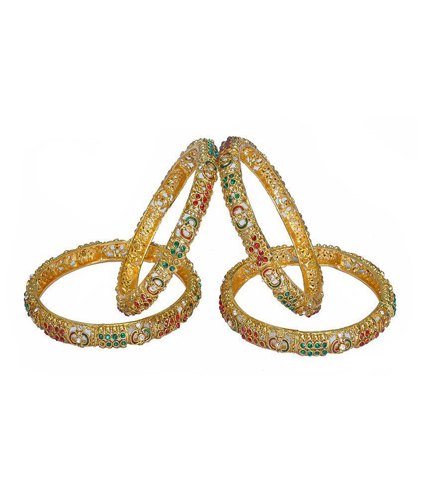Sri Balaji Ornaments Multicolour Gold Foil Bangle Set