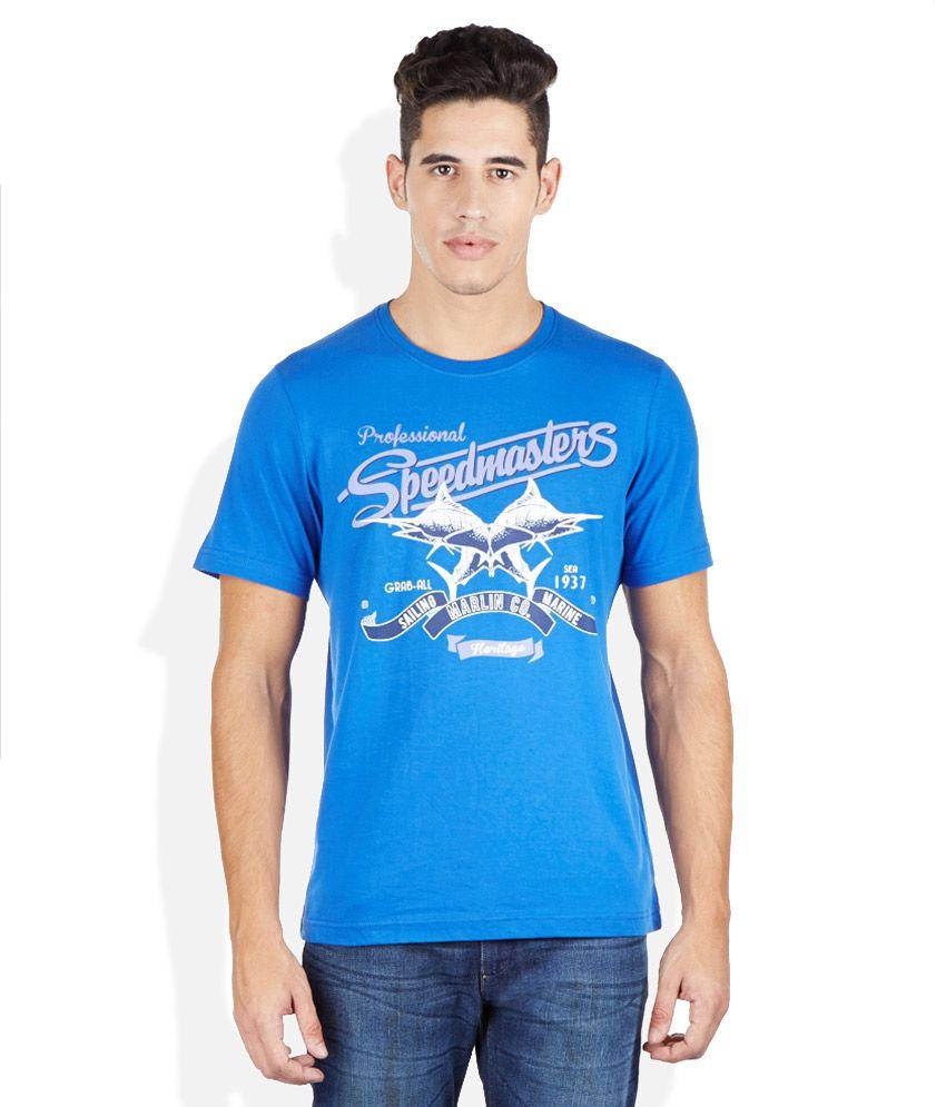 Izod Blue Round Neck T Shirt