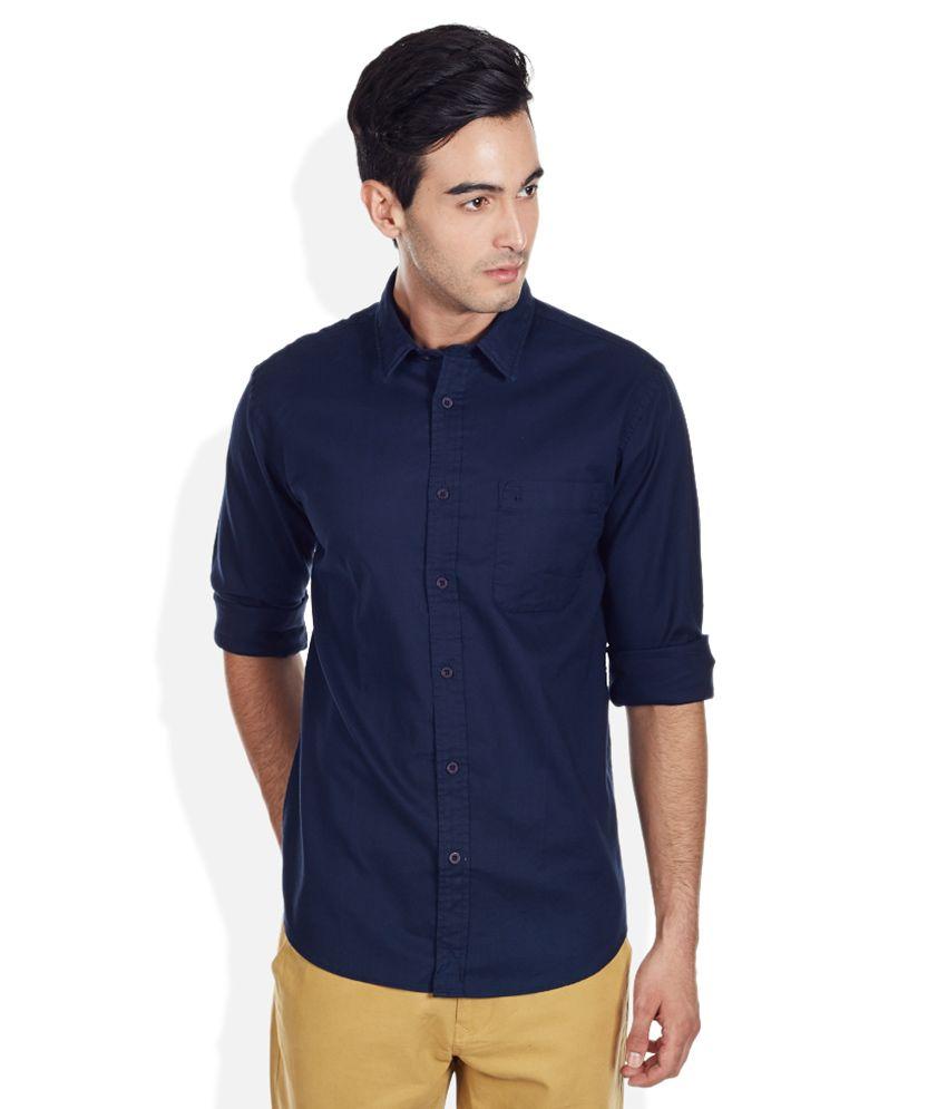 Izod Navy Slim Fit Shirt Buy Izod Navy Slim Fit Shirt Online At