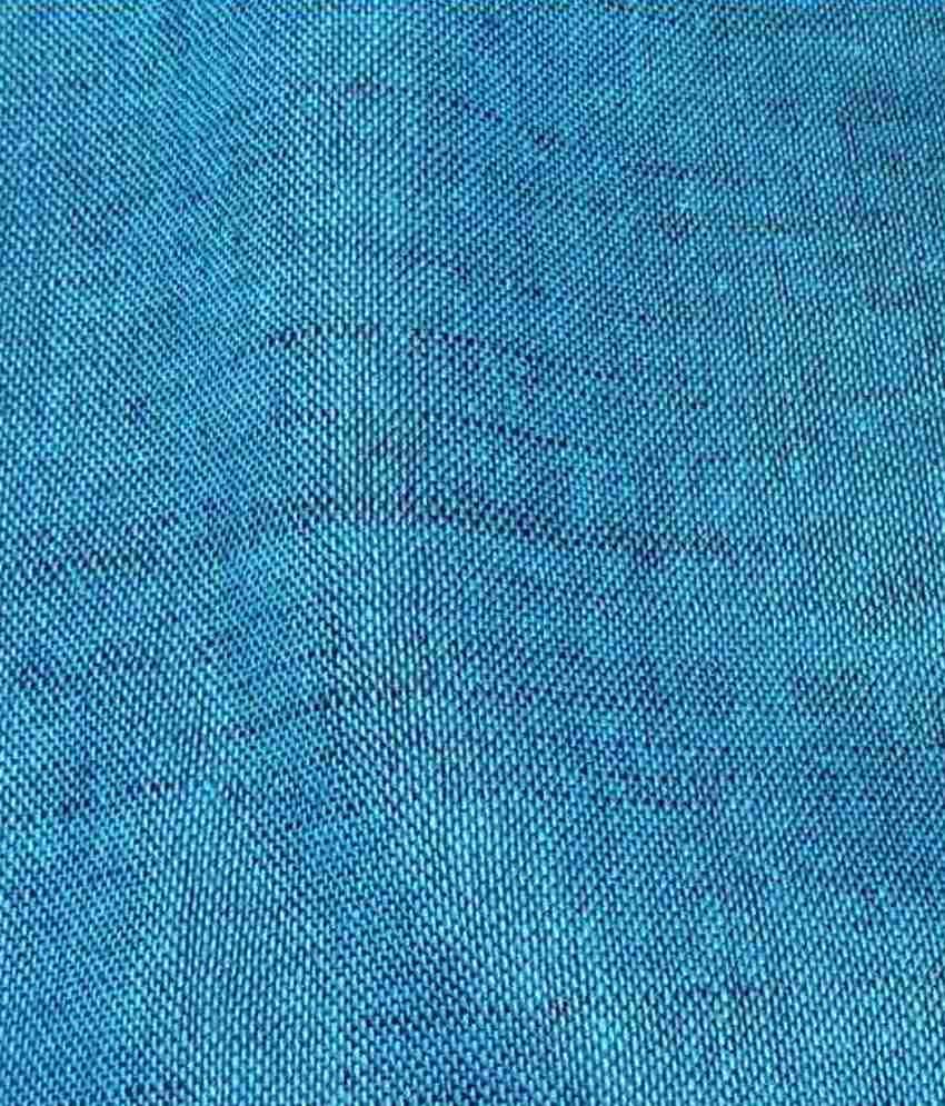Linen Sapphire Blue Unstitched Shirt pc Unstiched Kurta Shirt Piece