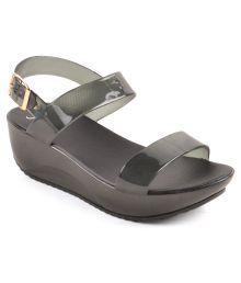 Yo Jelo Black Heeled Sandals