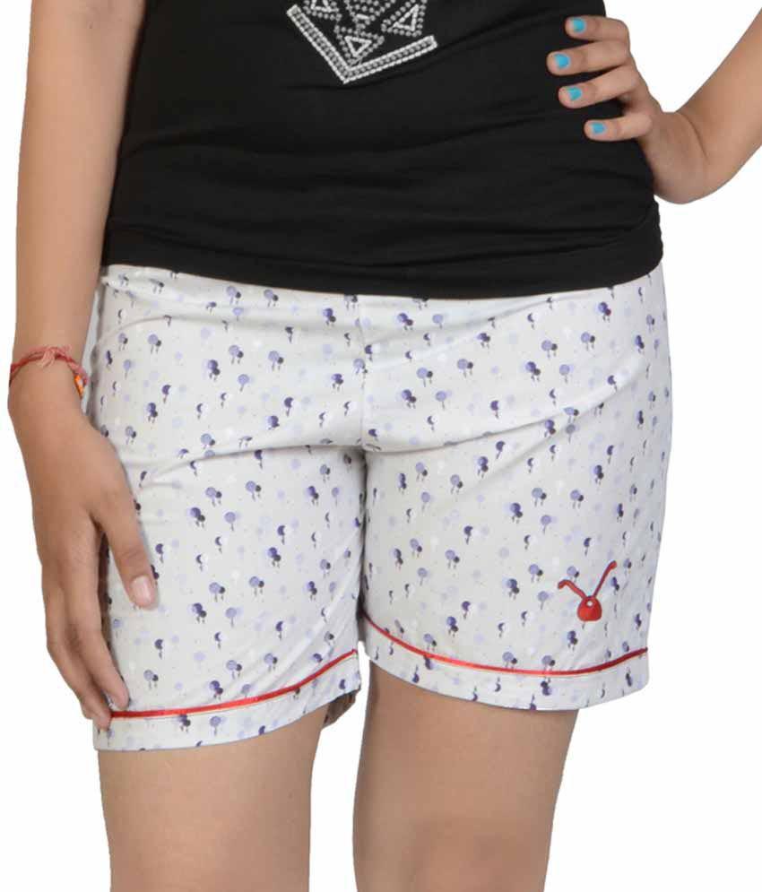 April6 Purple Cotton Shorts