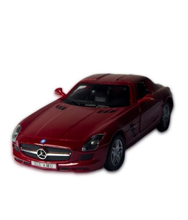 Kinsmart mercedes benz red cast iron car with openable for Mercedes benz iron